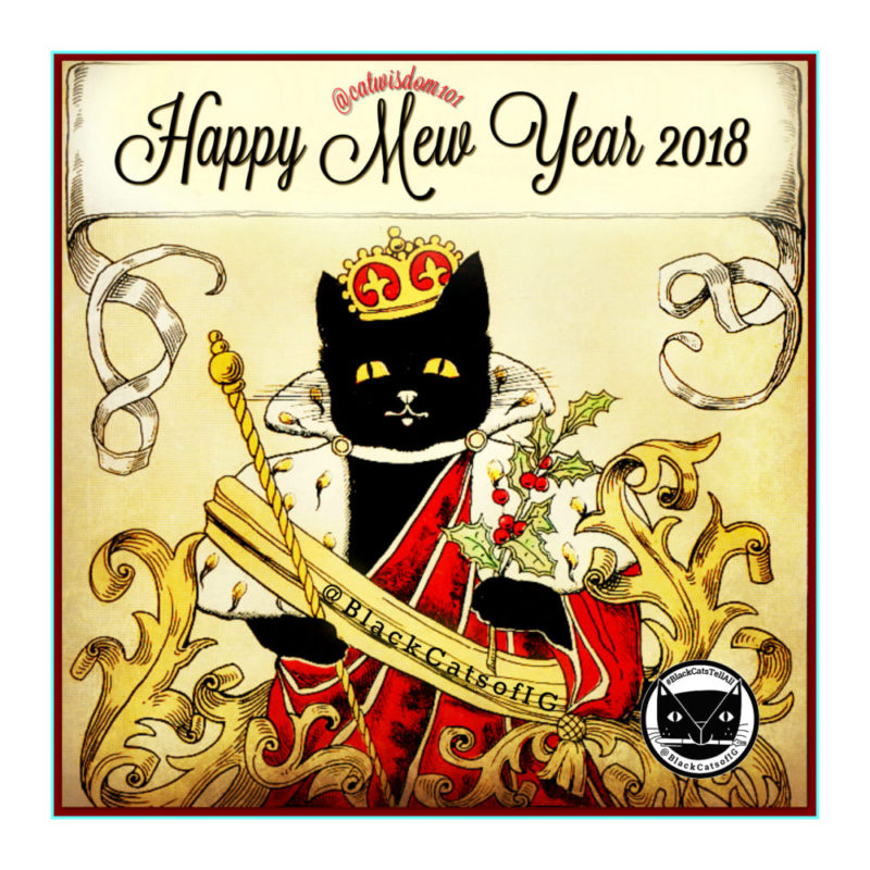 Cat clip art happy new year. Years of s