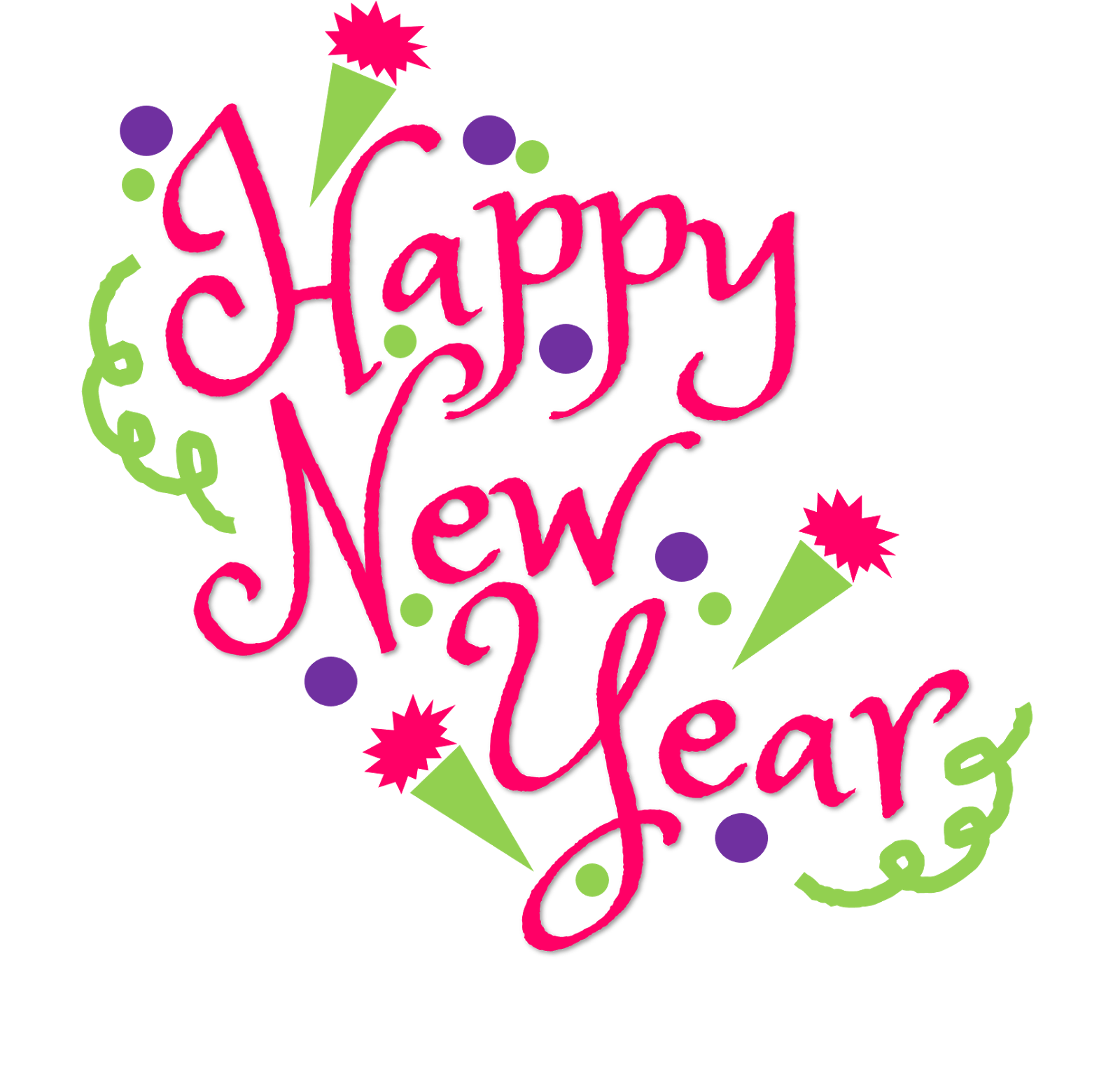 Cat clip art happy new year. Free clipart download