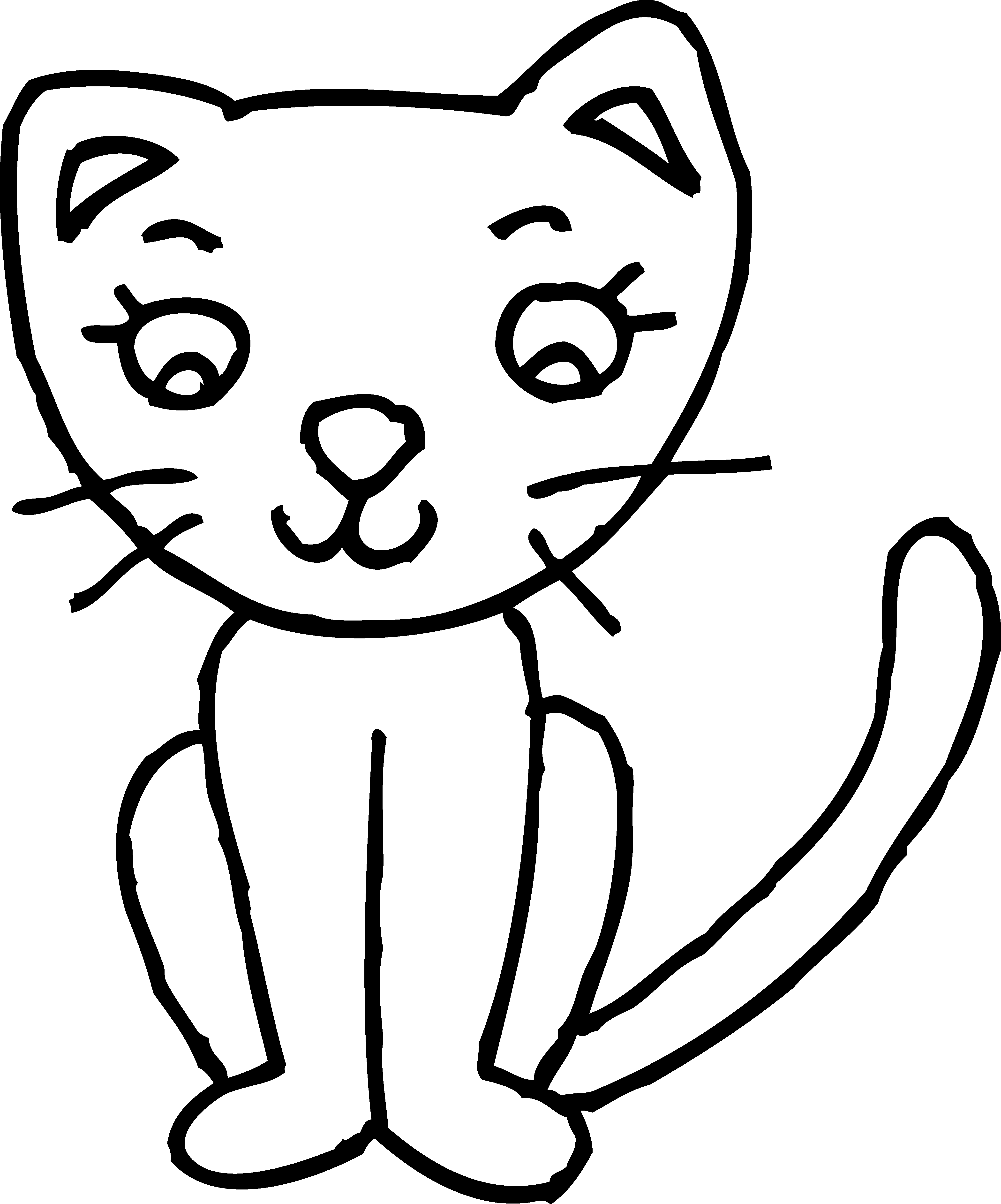 Drawing simple cliparts free. Cat clipart black and white clip art library stock