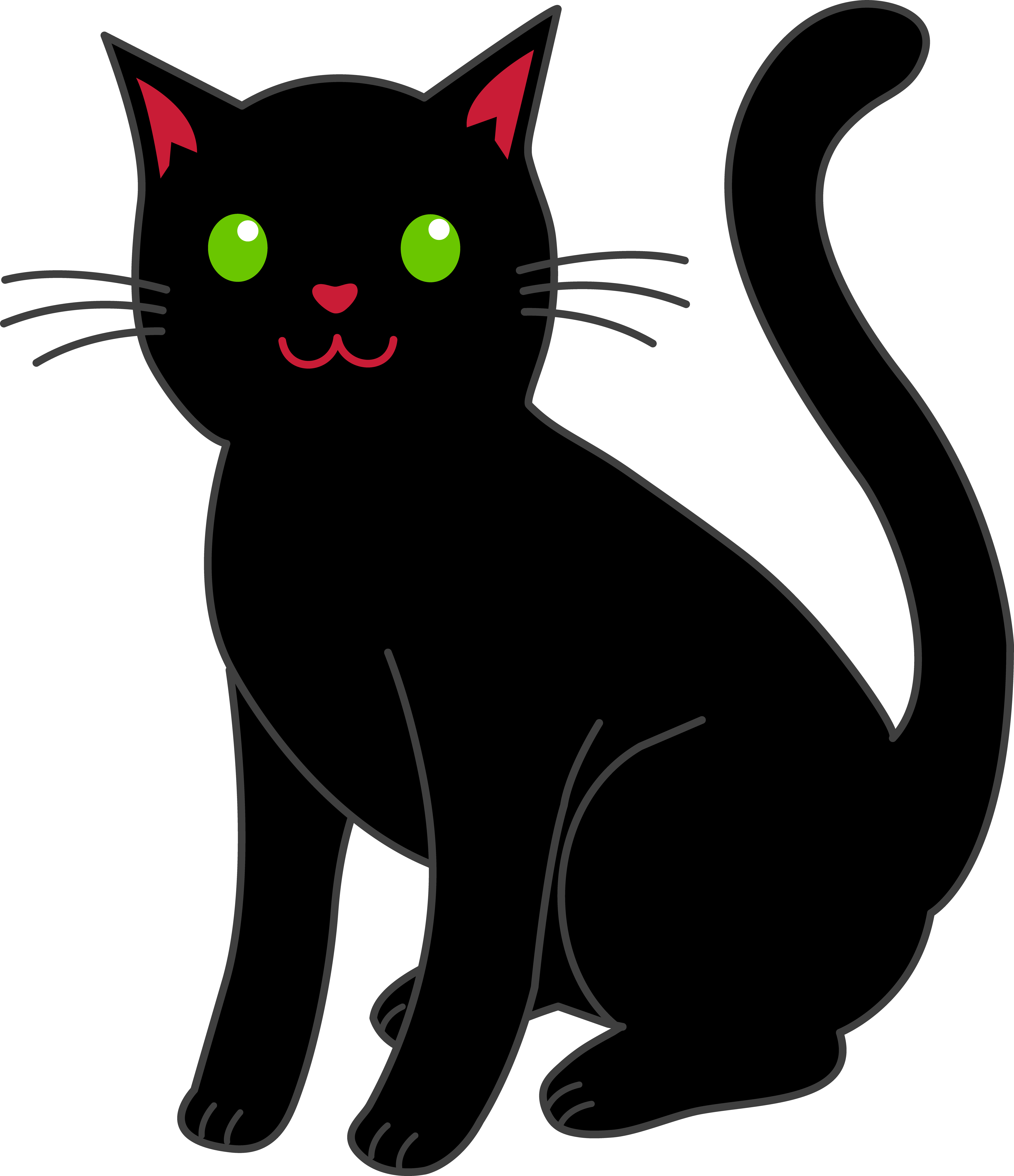 Cat clip art simple. Clipart black halloween free