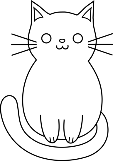 Free simple cliparts download. Cat clip art cute clip black and white stock