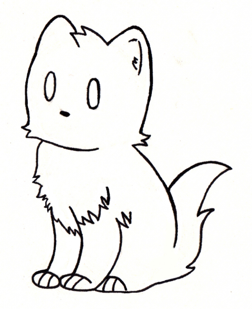 Cat clip art simple. Cute drawings drawing clipart