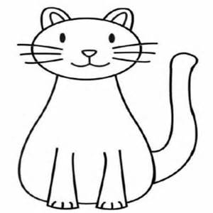 Drawing of a at. Cat clip art simple graphic library stock