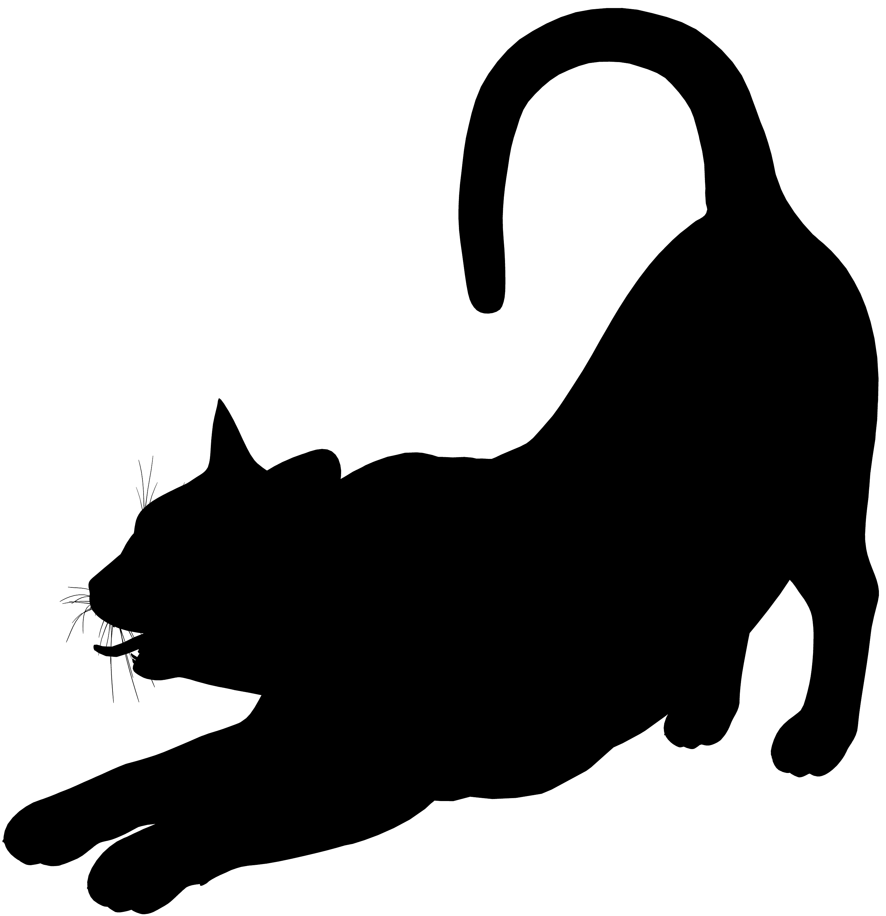 Scary clipart halloween pencil. Cat clip art spooky black clip art freeuse library