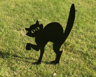 Cat clip art spooky black. Halloween etsy scaredy lawn
