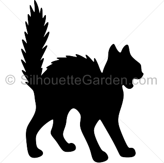 Pin by muse printables. Cat clip art spooky black banner freeuse download