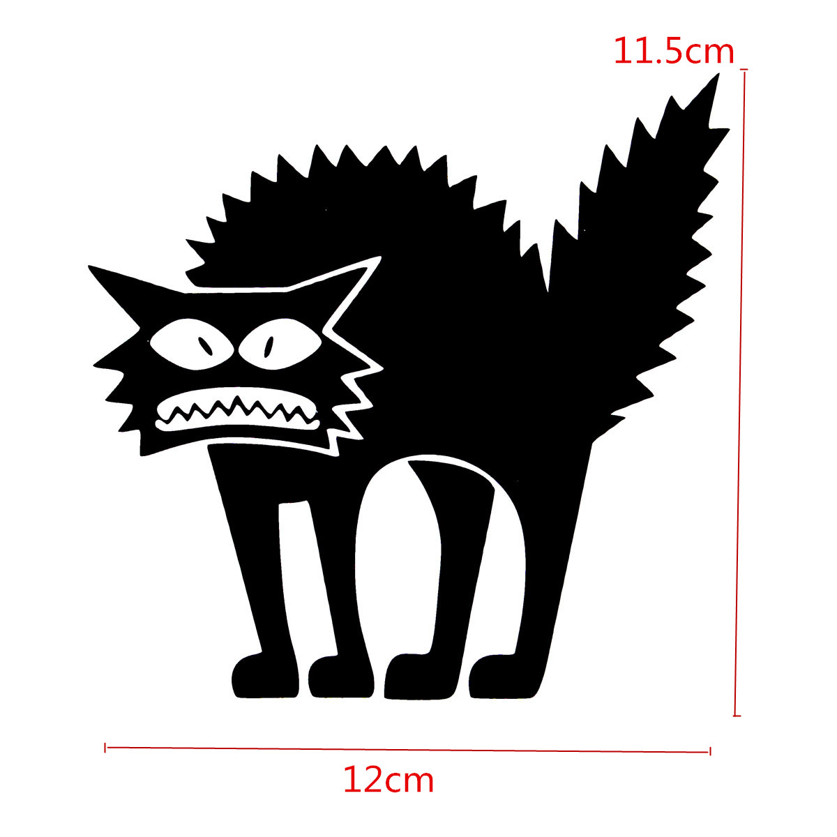 Halloween scary wall glass. Cat clip art spooky black png free