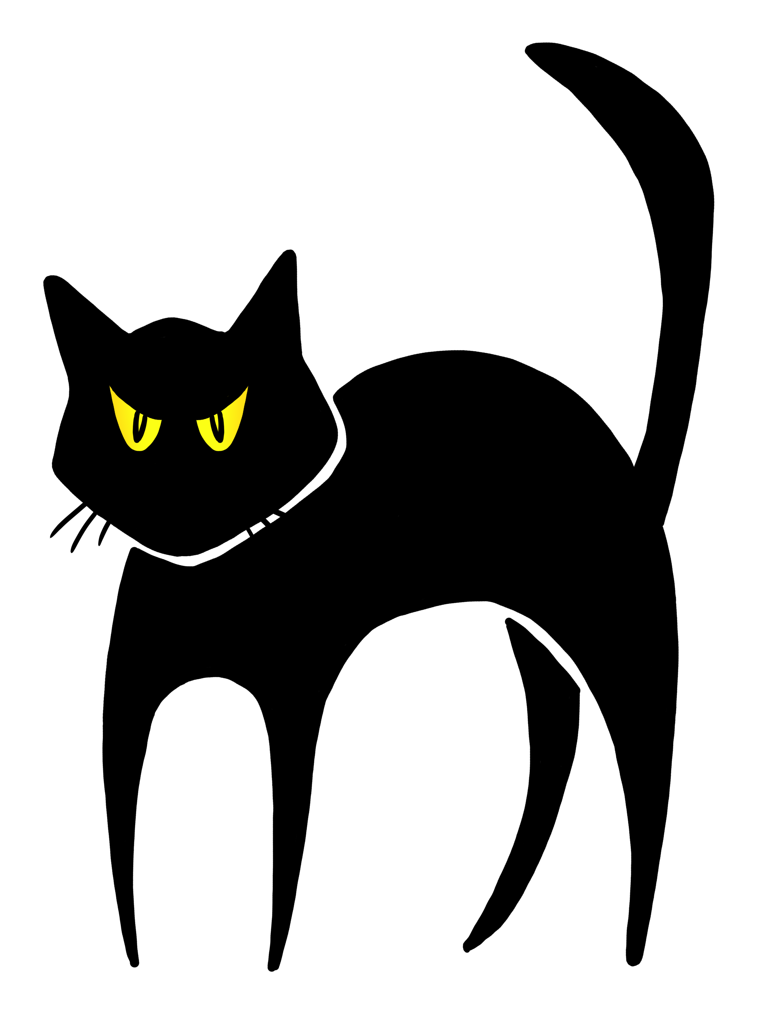 Free scary pictures download. Cat clip art spooky black jpg transparent download