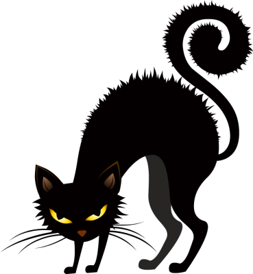 Cat clip art spooky black. Free scary pictures download