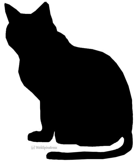 Cat clip art spooky black. Silhouettes for halloween clipart