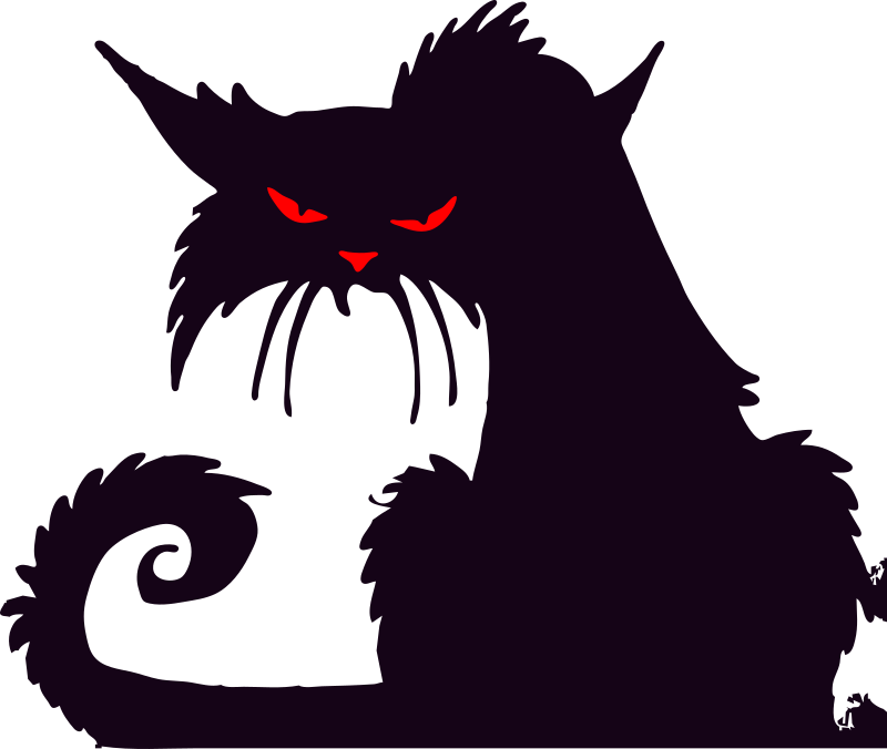 Cat clip art spooky black. Scary clipart pencil and