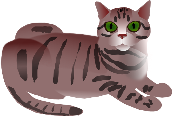At clker com vector. Cat clip art tabby image free