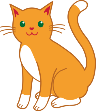 Girl clipart free orange. Cat clip art tabby clip art stock