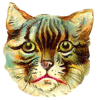 Cat clip art tabby. Antique images free head