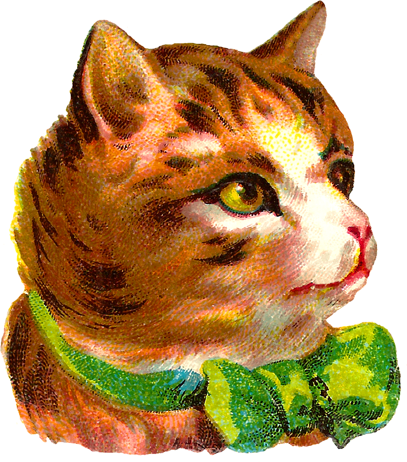 Cat clip art tabby. Download victorian antique free