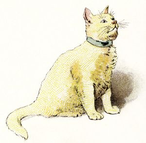 Yellow clipart image kitten. Cat clip art vintage graphic black and white library
