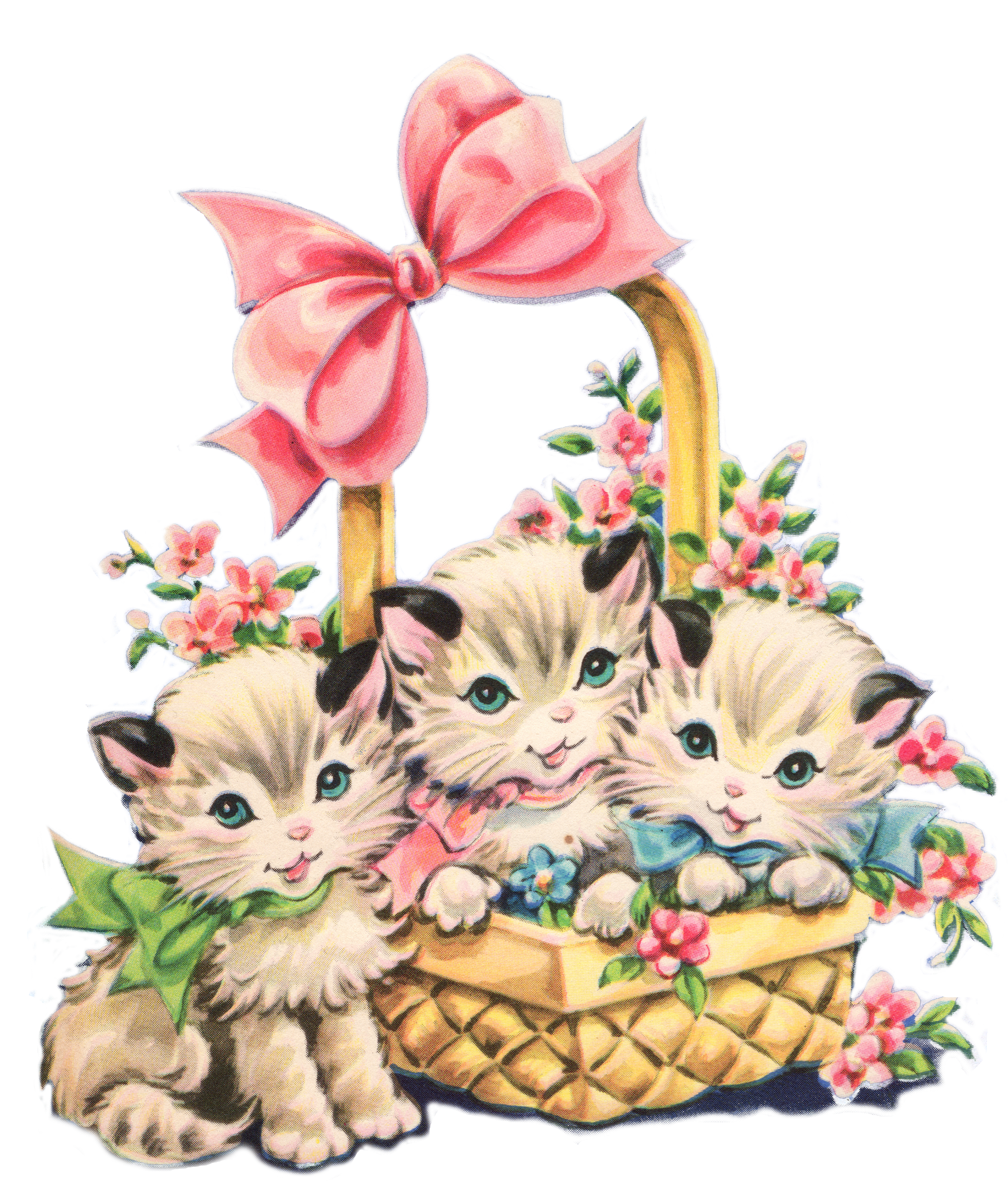 basket clipart cat basket
