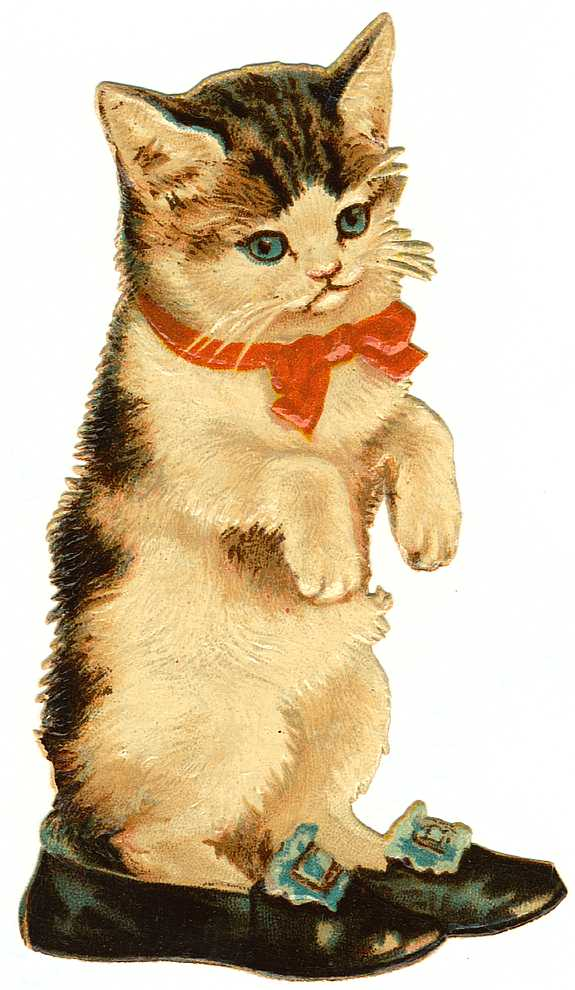 Cat clip art vintage. The graffical muse cute