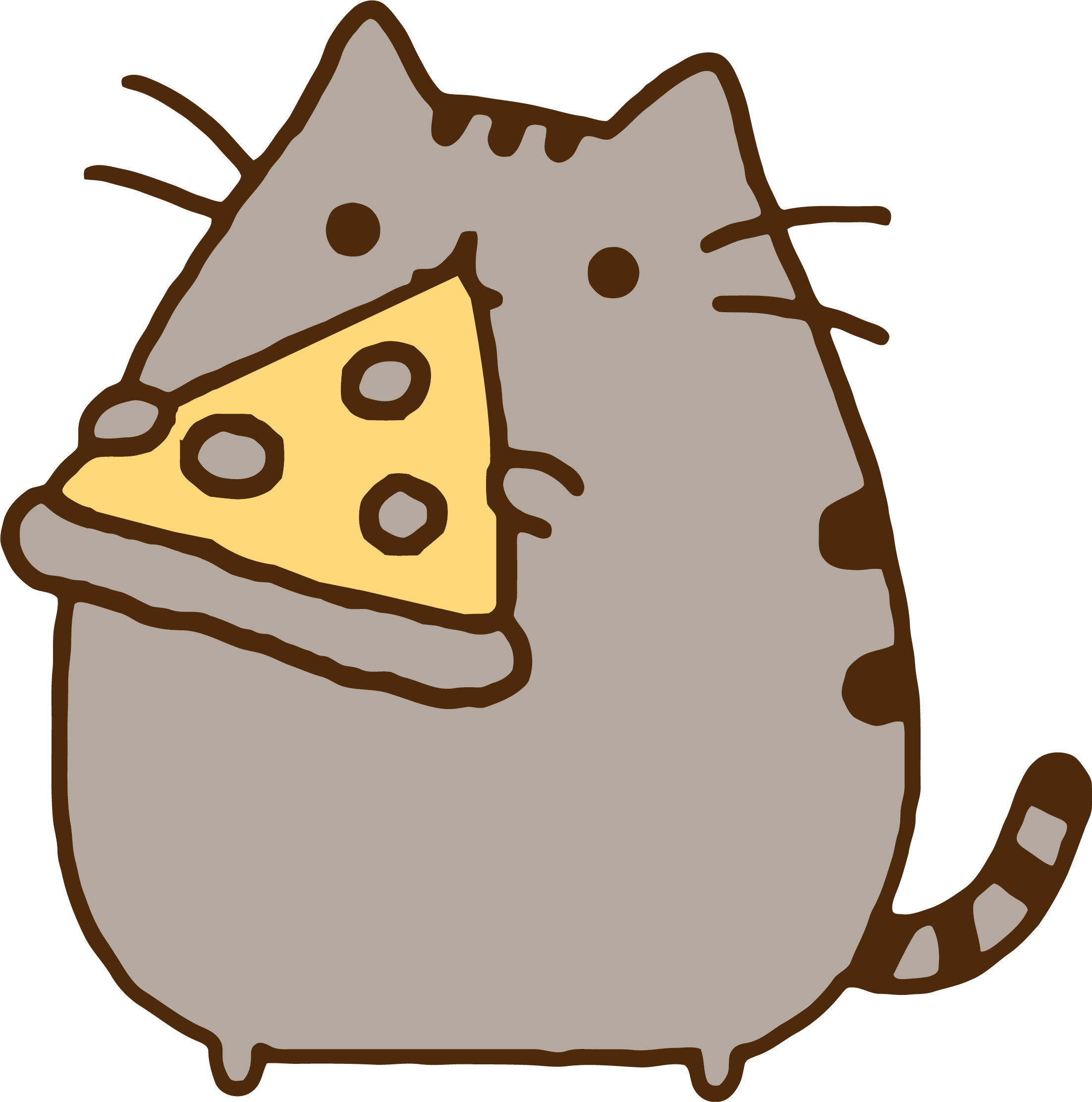 Pusheen pizza png. Clipart cat image typegoodies