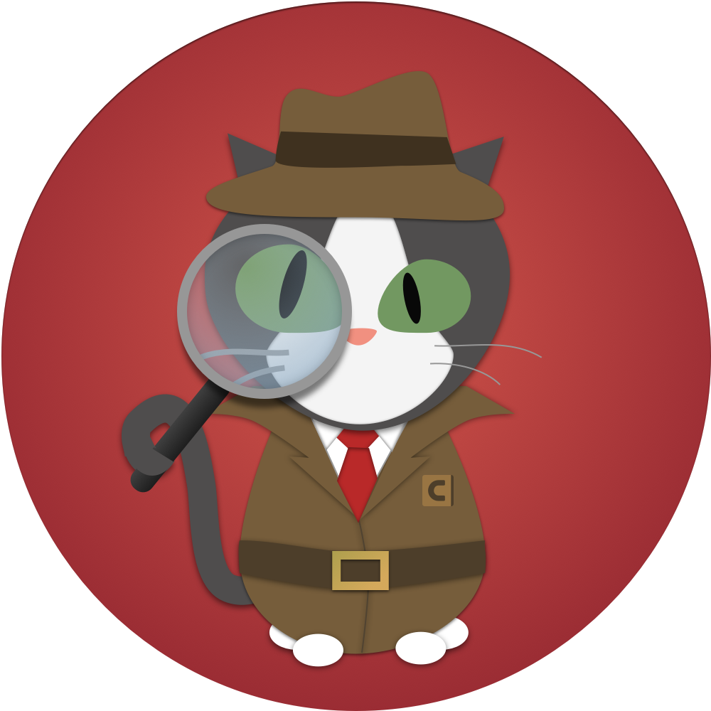 Cat clipart detective. Cats by contrast security