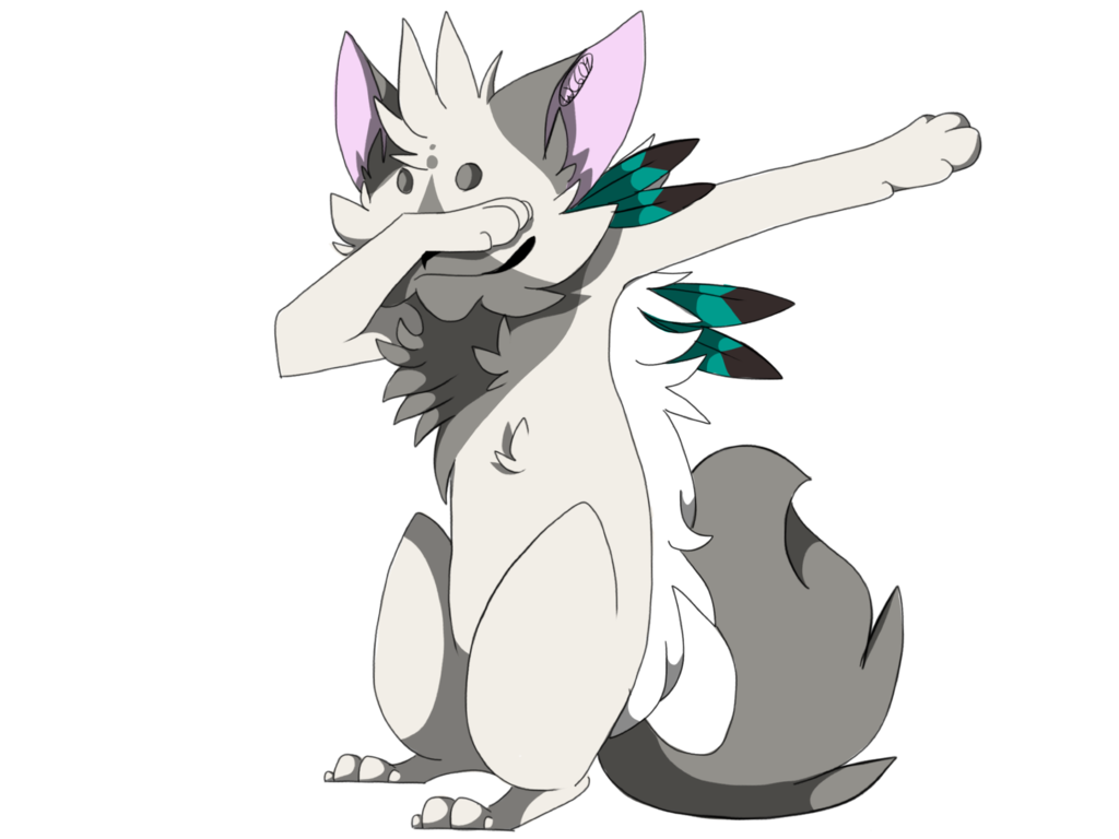 Cat dab png. With me by atramentous