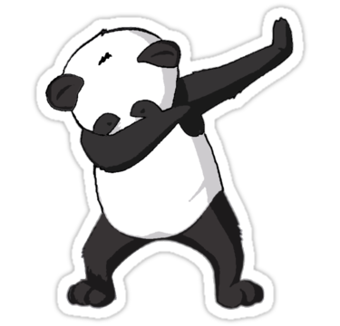 Dab vector. Panda stickers by frenchstyle