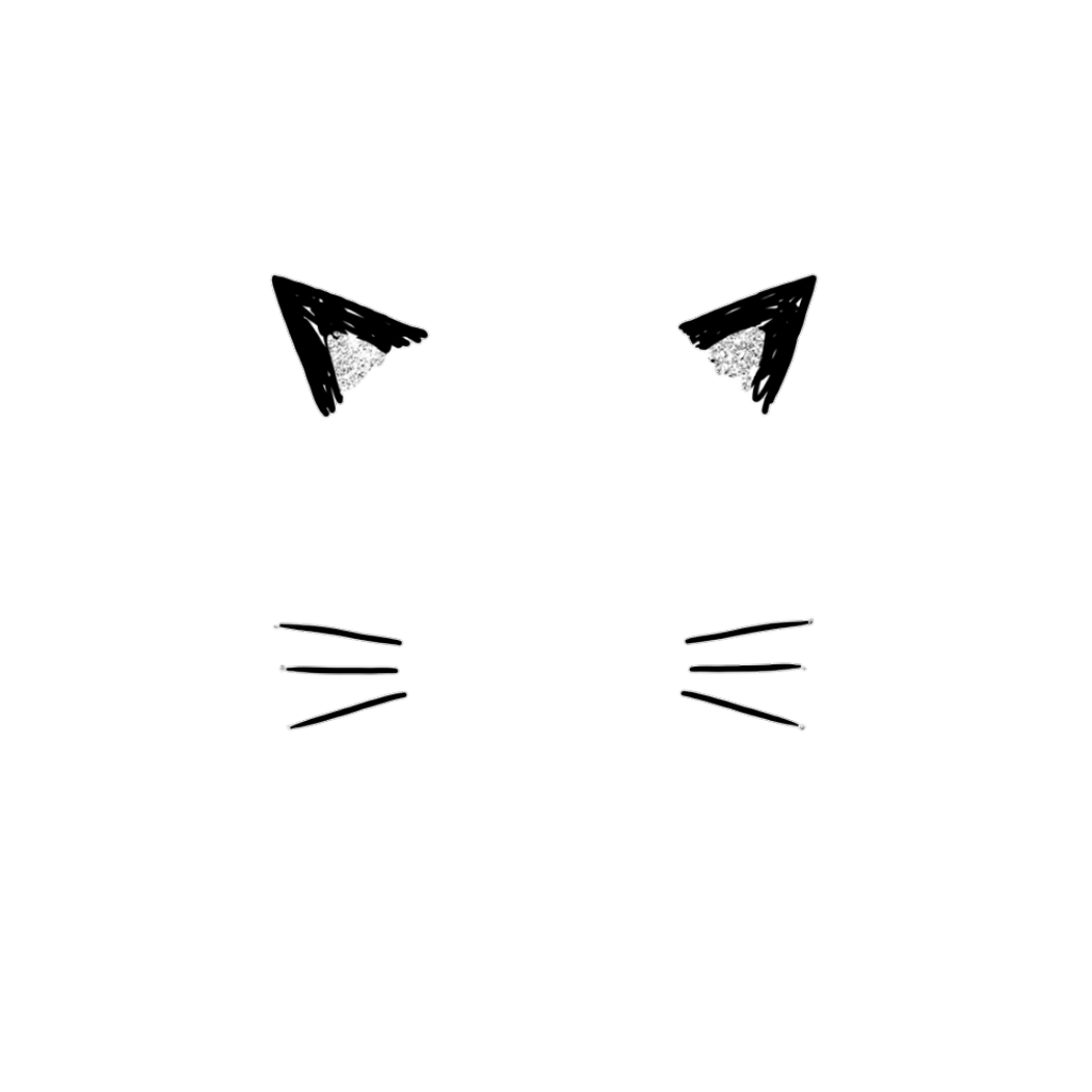 Cat ears png. Catears cute overlay kawaii