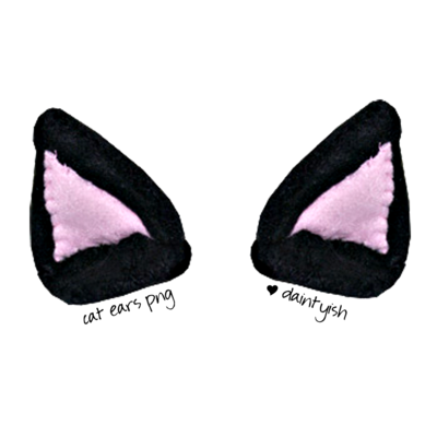 Cat ears png. By daintyish on deviantart