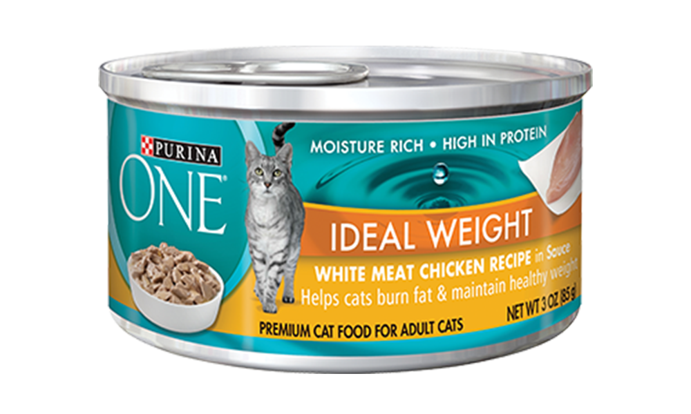 Cat food png. Weight management chicken canned