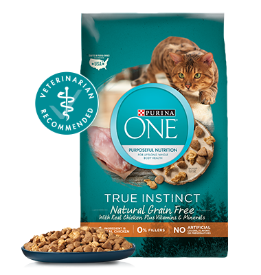 Cat food png. Natural grain free chicken