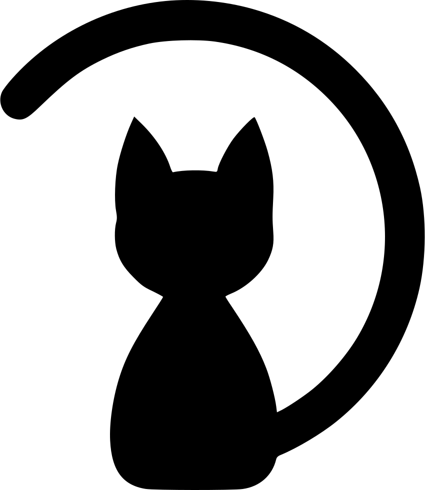 Cat icon png. Seat skin body svg