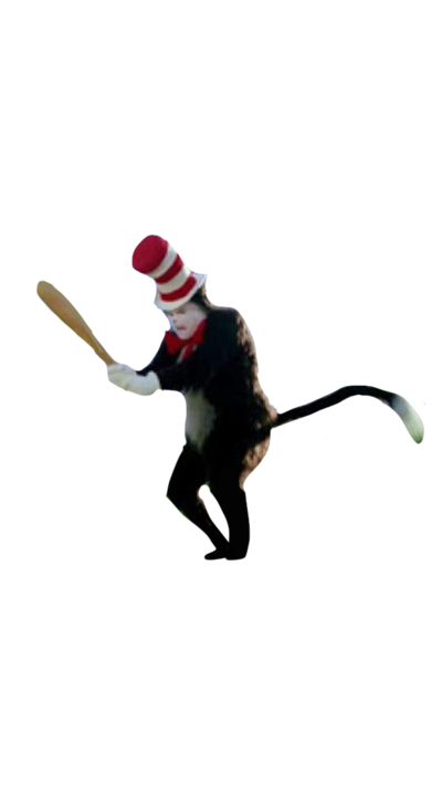 Cat in the hat bat png. Holding a by mounibear