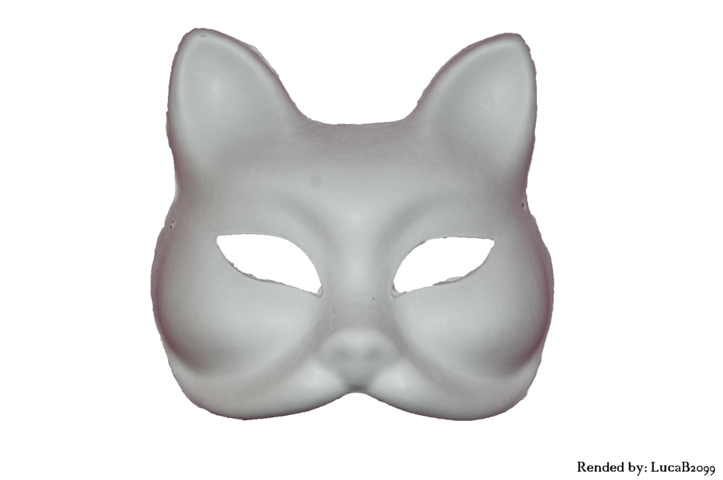 Cat mask png. Rended white by lucab