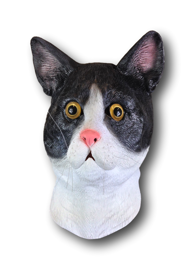 Cat mask png. Black white rubber johnnies