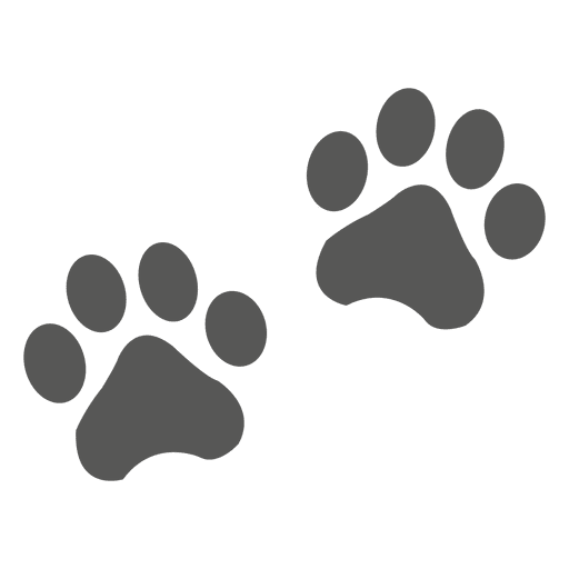 Cat paw prints png. Footprint icon transparent svg