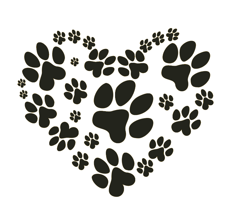 Paw heart png. Dog pet sitting cat