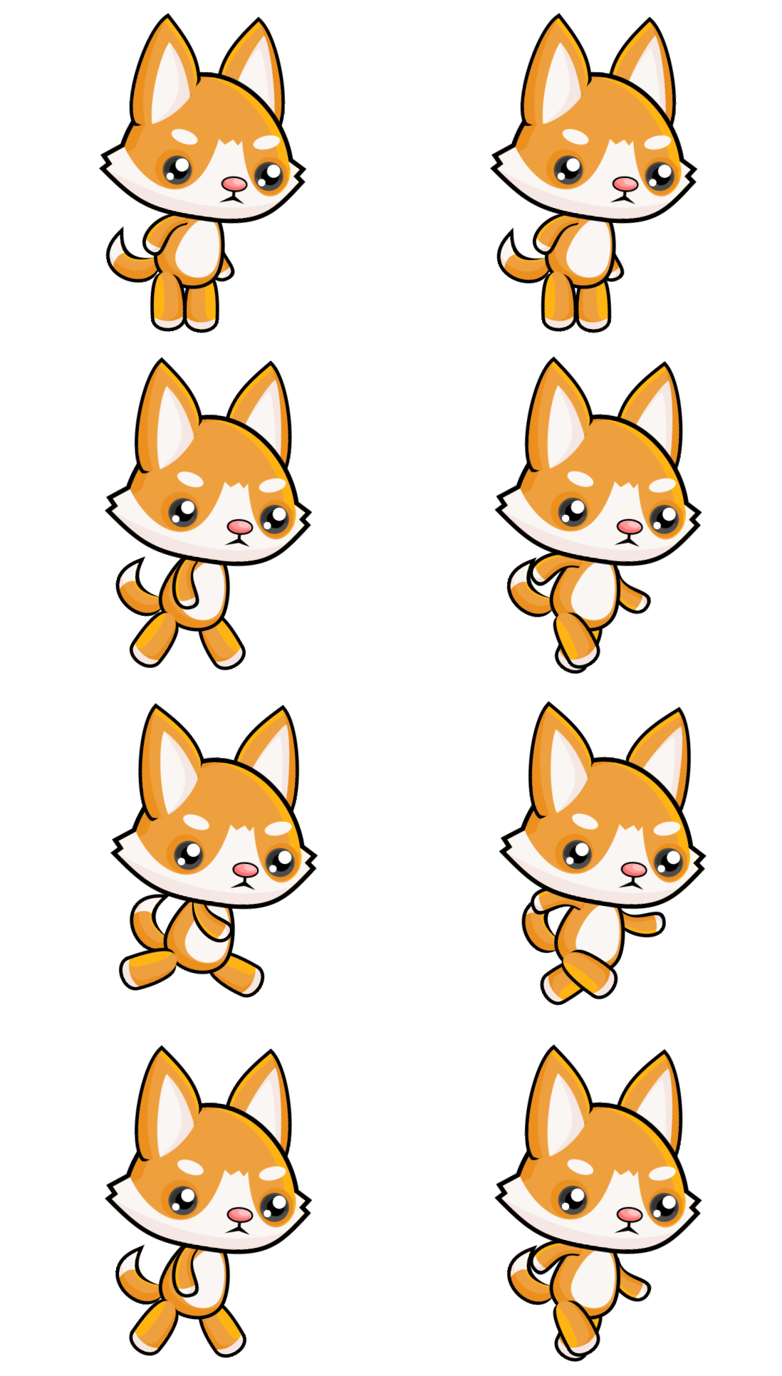 Cat sprite png. Css sheet animation not