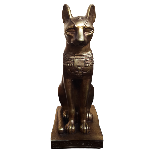 Cat statue png. Bast bastet egyptian goddess