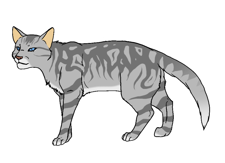 Cat stripes png. Shadowclan by twistedfoot on