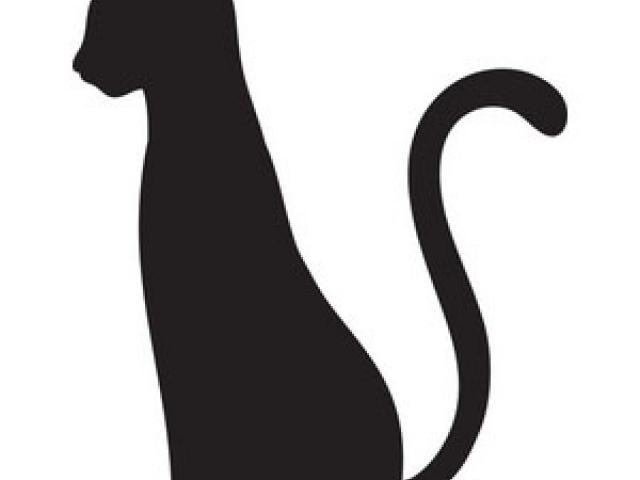 Cat tail. Black clipart free clip