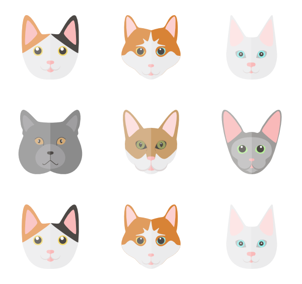 Cat vector png. Icons free set