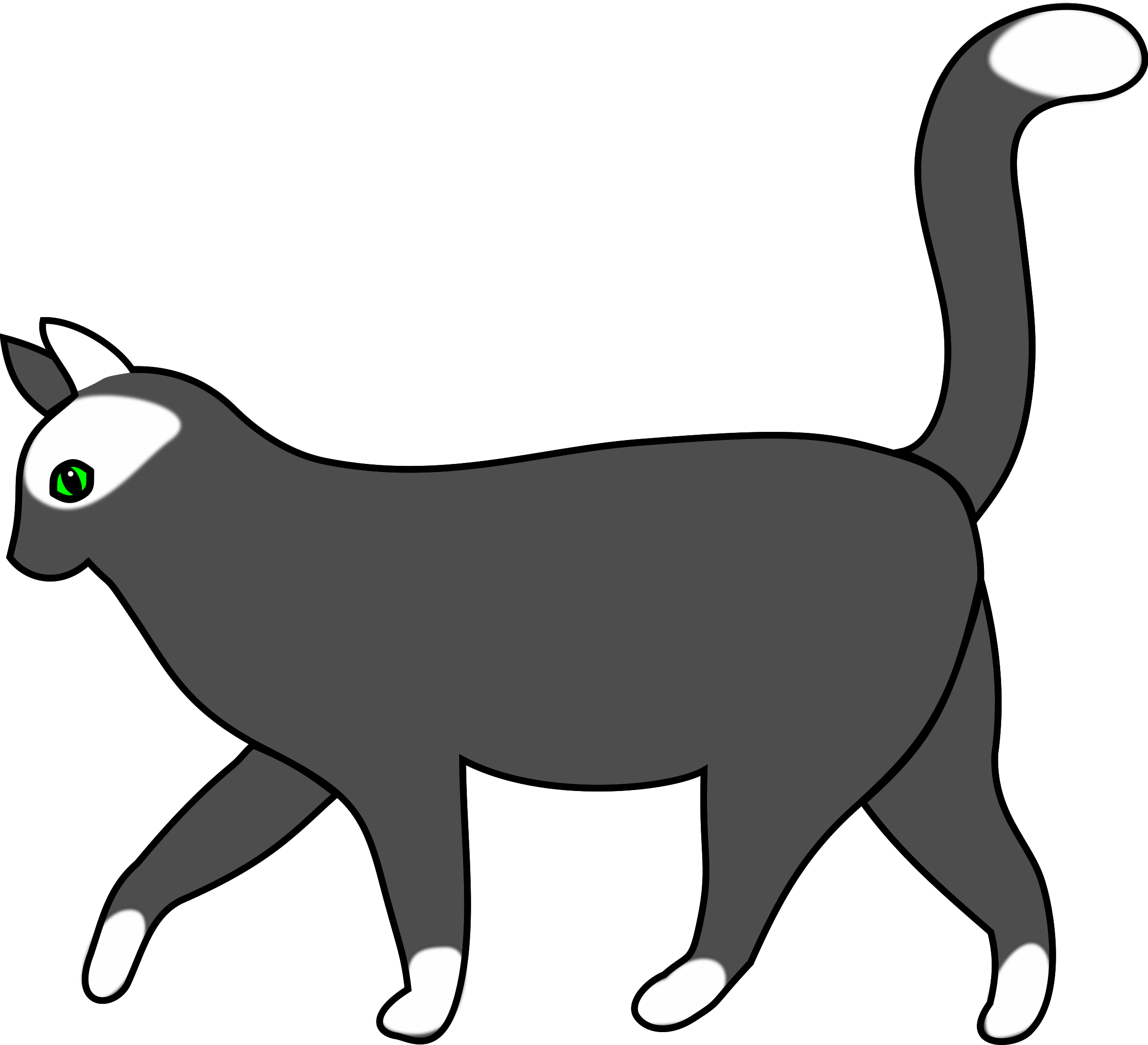 Cat walking png. White icons free and