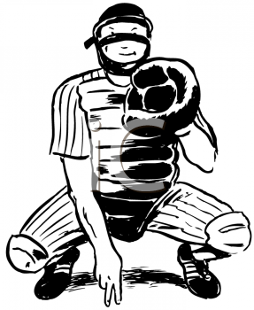 Catcher clipart. Black and white vintage png transparent stock