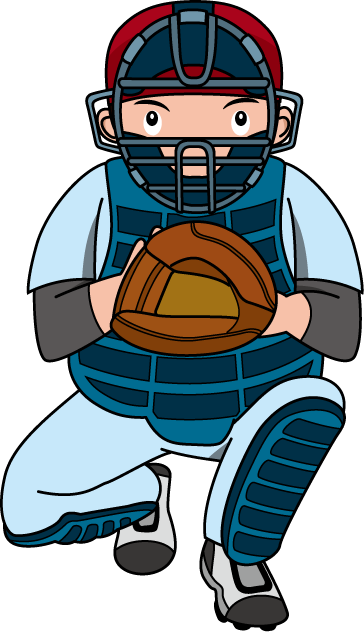 Baseball . Catcher clipart vector royalty free