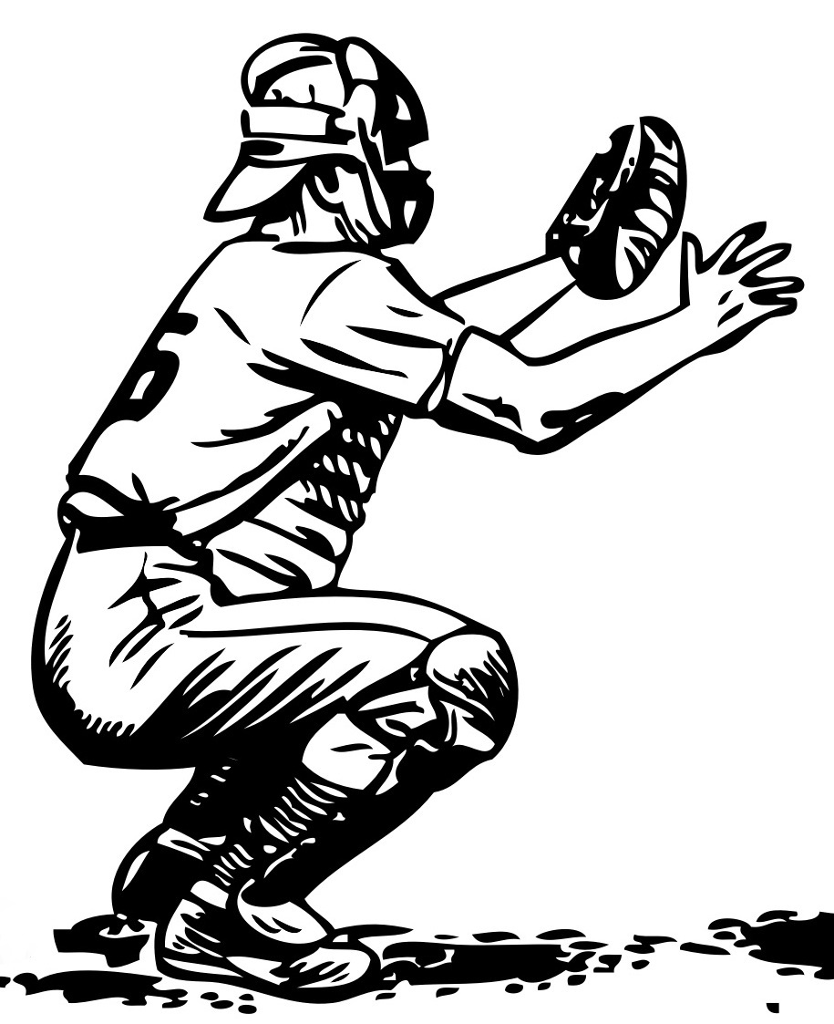 Catcher clipart baseball pitcher. Drawing at getdrawings com