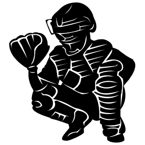 Catcher clipart baseball pitcher. Detailed softball sticker