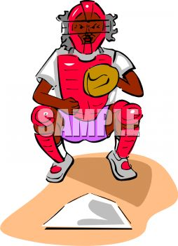 Catcher clipart baseball pitcher. Royalty free image behind freeuse stock