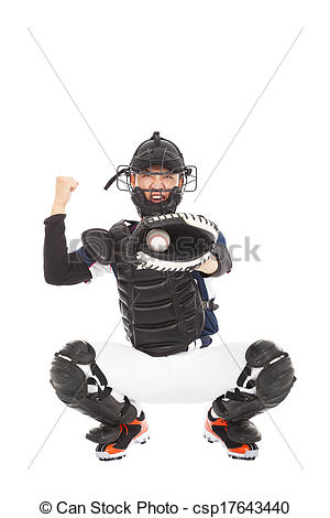 Player showing signal strike. Catcher clipart baseball pitcher picture black and white library