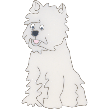 Catcher clipart dog. Westie hanging light west