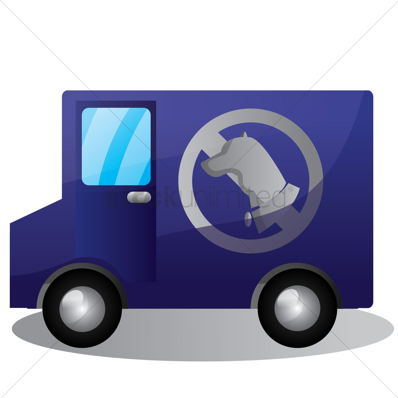 Van vector image stockunlimited. Catcher clipart dog png
